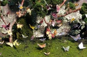 Detail of miniature diorama: Pinned Butterflies