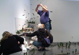 Participants choose their objects, including a raven