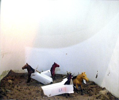 Detail of miniature diorama: Categorized Horses