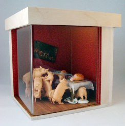 Diorama: Factor Farm Pigs