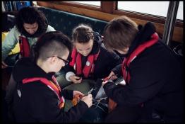 Civic Lab members doing field repairs. MEOPAR 2016